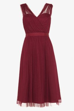 Phase Eight Romy Tulle Bridesmaid Dress Merlot Red