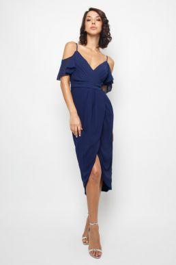 TFNC Betty Navy Midi Dress Navy Blue