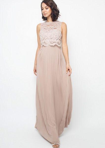 6db6e9b92be1 TFNC Camden Pleat Lace Maxi Bridesmaid Dress, Pink/Blush ...