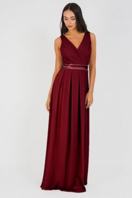 TFNC Kily Maxi Bridesmaid Dress Burgundy