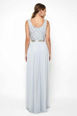 Lace & Beads Shae Sky Blue Maxi Dress Pale blue