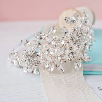 Pearl And Diamante Side Headdress