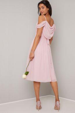 Chi Chi Anamelia Short Bridesmaid Dress Pink Blush