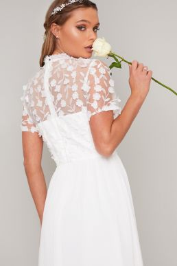 Chi Chi Bridal Alix Lace Maxi Dress White