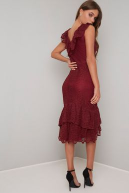 Chi Chi Savannah Lace Dress Red
