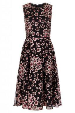 Hobbs Lilith Floral Dress Pink Black