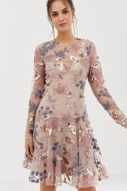 Bronx and Banco Aurora heavy embellished mini dress