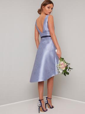 Chi Chi Priyanka High Low Short Bridesmaid Dress Lilac