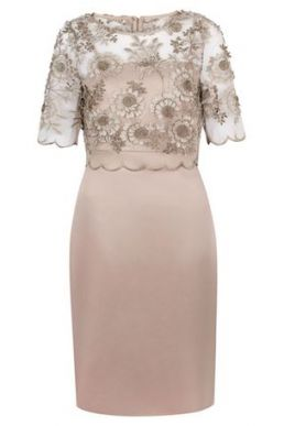 Hobbs Anna Floral Lace Shift Dress Blush Pink