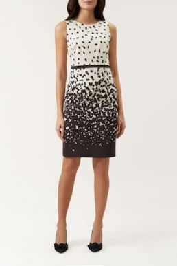 Hobbs Arabella Print Dress Black White