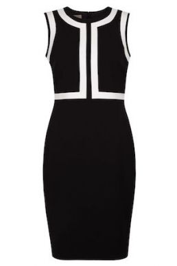 Hobbs Jackie Contrast Shift Dress Black White
