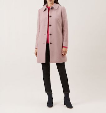 Hobbs Carron Coat Blush Pink
