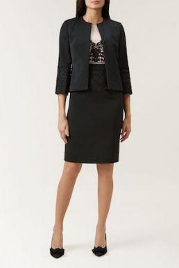 Hobbs Seraphina Lace Jacket Black