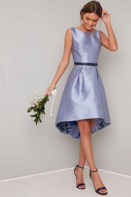 Chi Chi Priyanka High Low Short Bridesmaid Dress, Lilac