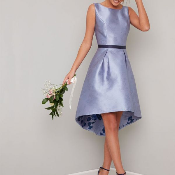 Chi Chi Priyanka High Low Short Bridesmaid Dress, Lilac