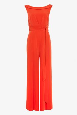 Phase Eight Geneviev Bardot Jumpsuit Red