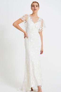 Phase Eight Layla Lace Wedding Maxi Dress Ivory