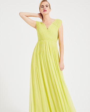 Phase Eight Marion Crinkle Maxi Dress Yellow