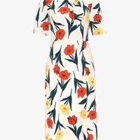 Phase Eight Melinda Floral Printed Dress White Multi