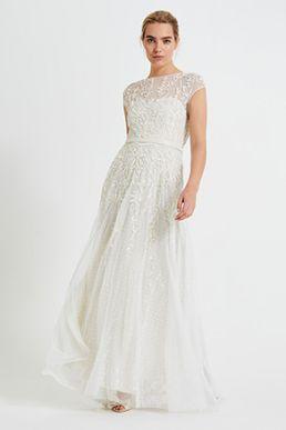 Phase Eight Mylee Embellished Wedding Dress Ivory