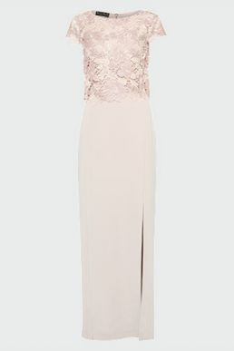 Phase Eight Olivia Lace Bodice Maxi Dress Pink Blush