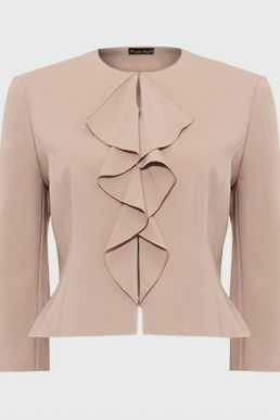 Phase Eight Stella Frill Jacket Latte Nude