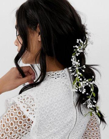 ASOS DESIGN hair clip with floral leaf and vine detail