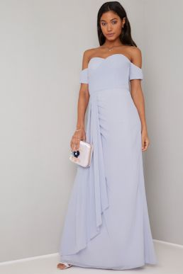 Chi Chi Eliff Maxi Bridesmaid Dress Blue