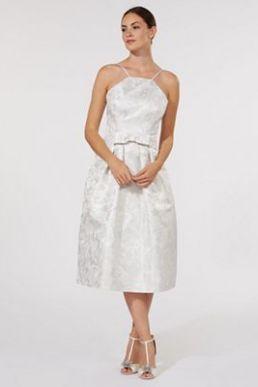 Debenhams Honor Jacquard Bridal Prom Bridesmaid Dress Cream