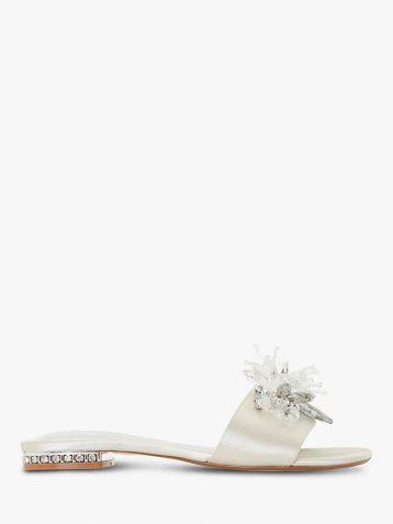 Dune Bridal Collection Newlywed Embellished Slide Sandals Ivory