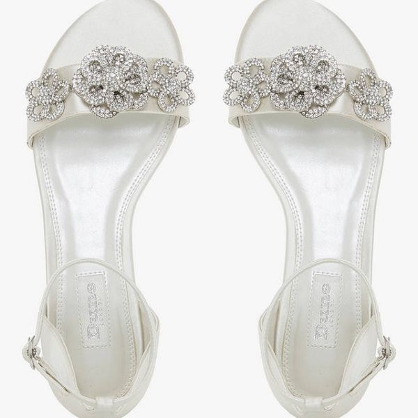 Dune Bridal Collection Noted Embellished Sandals Ivory