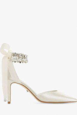 Dune Church Bridal Collection Stiletto Heel Court Shoes Ivory Satin