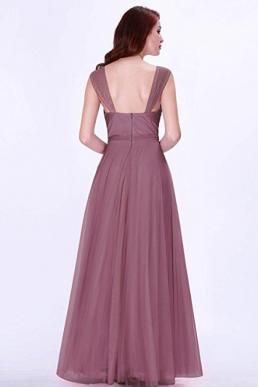 Ever Pretty Maxi A Line Empire Bridesmaid V Neck Sleeveless Dress Orchid 07303