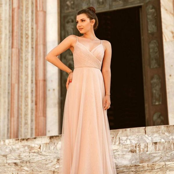 e45c663639f Ever Pretty Maxi Ruched Empire Bridesmaid V Neck Sleeveless Dress Blush  07369. Ever Pretty Maxi Ruched Empire Bridesmaid V Neck Sleeveless Dress  Blush 07369