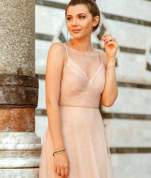 1e8c3da74ed Ever Pretty Maxi Ruched Empire Bridesmaid V Neck Sleeveless Dress ...