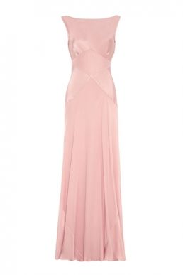 Ghost Taylor Bridesmaid Maxi Dress Boudoir Pink