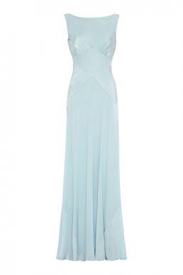 Ghost Taylor Bridesmaid Maxi Dress Sky Light Blue