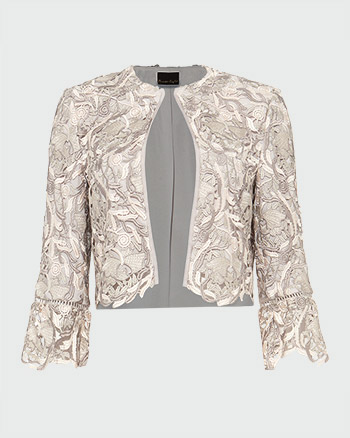 Phase Eight Ellise Lace Jacket Ivory Latte