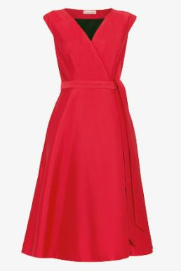 Phase Eight Estelle Fit & Flare Dress Red Raspberry Pink