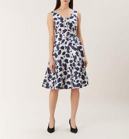 62979b187f Hobbs Grace Leaf Print Dress