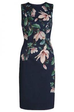 Hobbs Moira floral shift dress navy multi