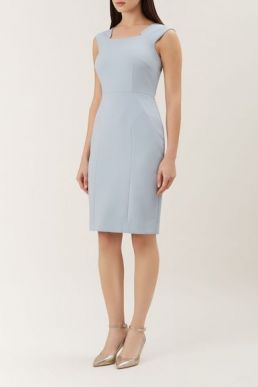 Hobbs Harper Shift Dress Pale Blue