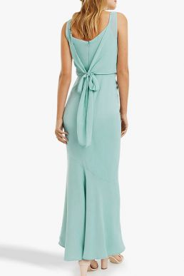 Oasis Emily Bow Back Bridesmaid Maxi Dress Pale Green
