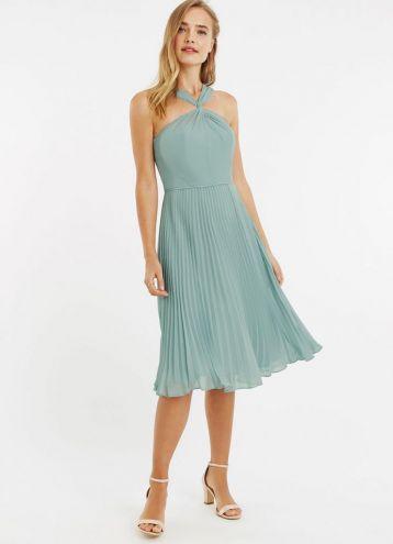Oasis Twist Slinky Short Bridesmaid Dress Mint Green