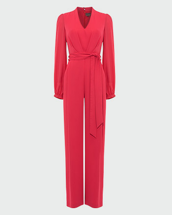 Phase Eight Audrey Blouson Sleeve Jumpsuit Raspberry Pink