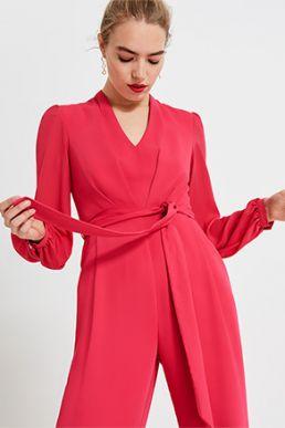 Phase Eight Audrey Blouson Sleeve Jumpsuit Raspberry Pink