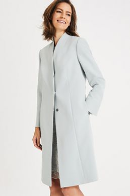Phase Eight Constanza Coat Duck Egg Blue