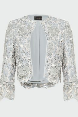 Phase Eight Ellise Lace Jacket Duck Egg Blue