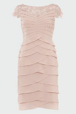 Phase Eight Faith Layered Dress Blush Petal Pink