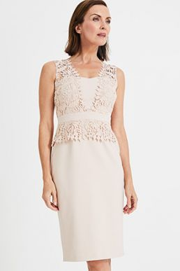 Phase Eight Harmony Lace Shift Dress Pink Blush Cameo